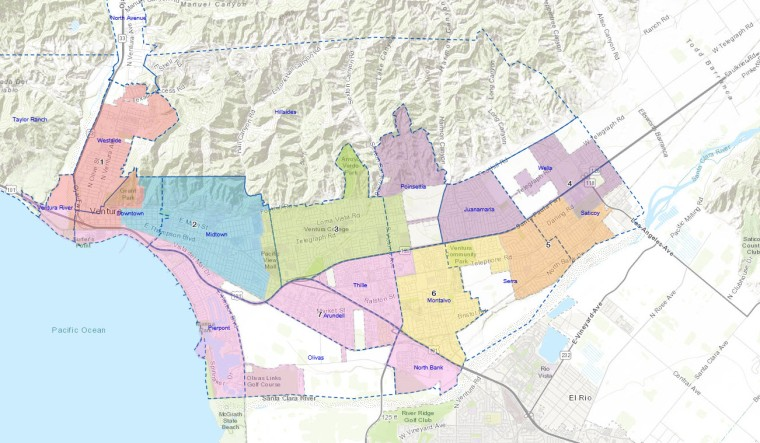 2017 VENTURA DISTRICT MAP