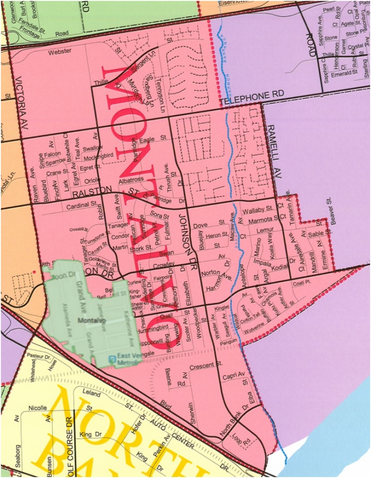 City Of Ventura Montalvo Map